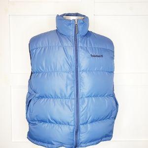 Mens Timberland Blue Puffer Full Zip Vest Large